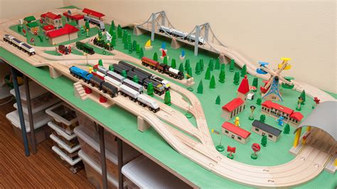 brio train set with table brio wooden railway guide