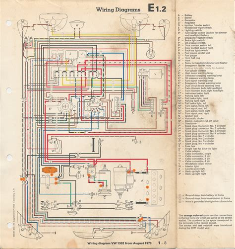 electrics wiring diagram for early 1973 1300 beetle vw