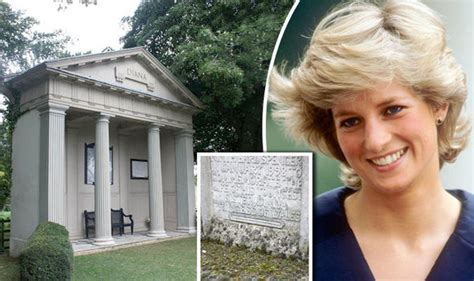 princess diana gravesite diana s isle to emerge from years of neglect after
