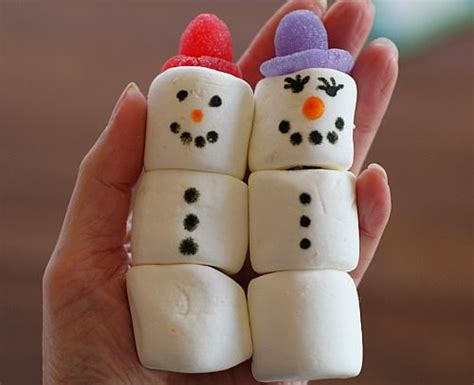 easy crafts for marshmallow snowmen marshmallows for desserts