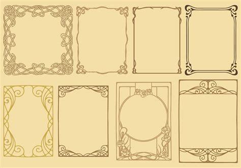 Frame Design In Vector | art nouveau frame vectors download free vector art