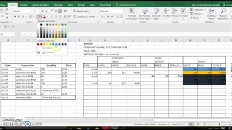 fifo spreadsheet template gallery template design ideas