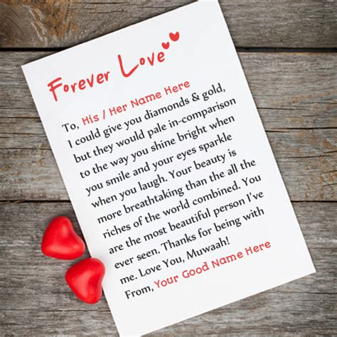 Letters To The Boys I Loved forever letter with and boys name