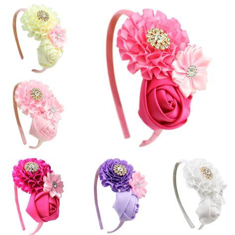 hair accessories children baby beautiful pink 1 pieces new baby ruffles pink flower hair flower