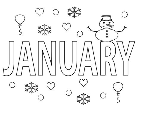january coloring pages free january coloring pages printable