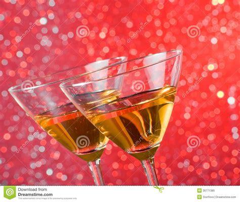 Tilted Bar Glasses Detail Of Tilted Glasses Of Cocktail On Bar Table Royalty
