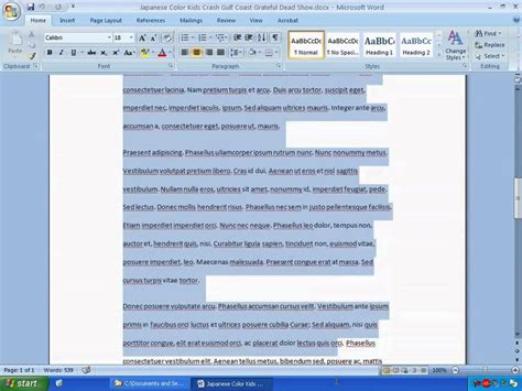 artikel layout i word lesson 01 formatting article text in microsoft word