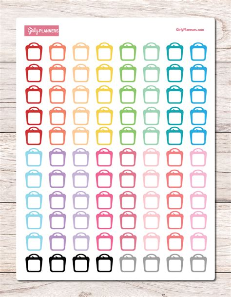 printable stickers bullet journal scale weight tracking printable planner stickers planner