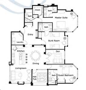 ski resort first and second floor floor plan ski resort