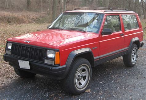 jeep red two door file jeep cherokee 2 door jpg wikimedia commons