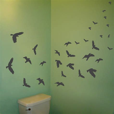 Flying Birds Wall Stickers flying birds set of 30 wall decal sticker graphic