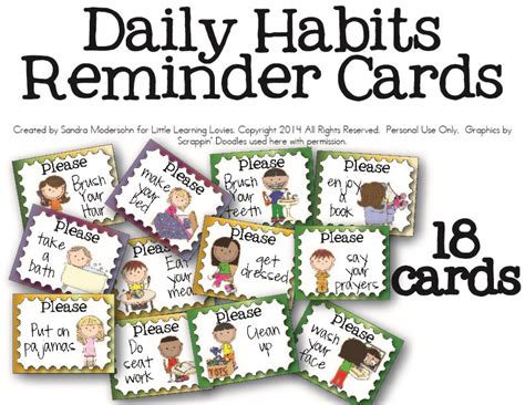 printable picture postcards daily routine helper cards free little learning lovies