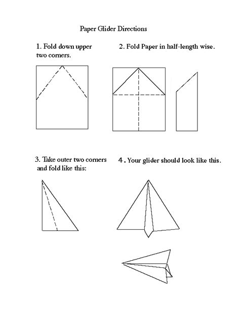 How To Make A Glider Paper Airplane Step By Step - paper airplanes designs paper airplane designs distance