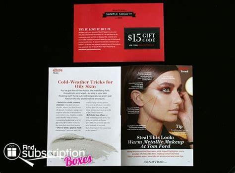 Mini Bar Gift Card - november 2013 beauty bar sle society review beauty subscription box find