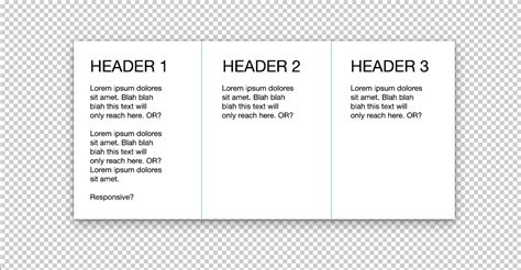 three column layout equal height three column responsive equal height with border how to