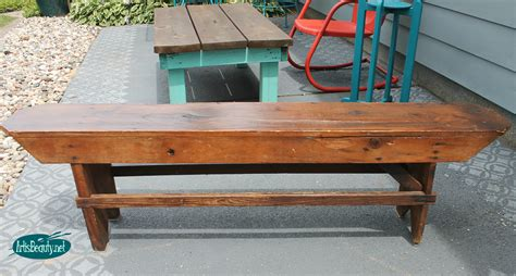 farm house bench remodelaholic how to build a primitive farmhouse bench