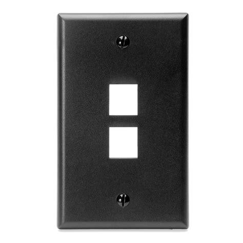 leviton mfg co leviton manufacturing 410802ep 2 port plate black