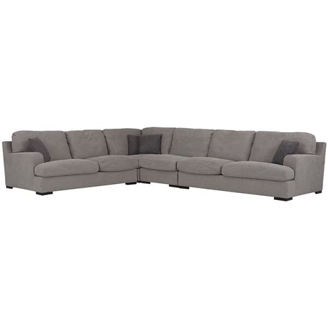 large gray sectional city furniture samson light gray fabric large two arm