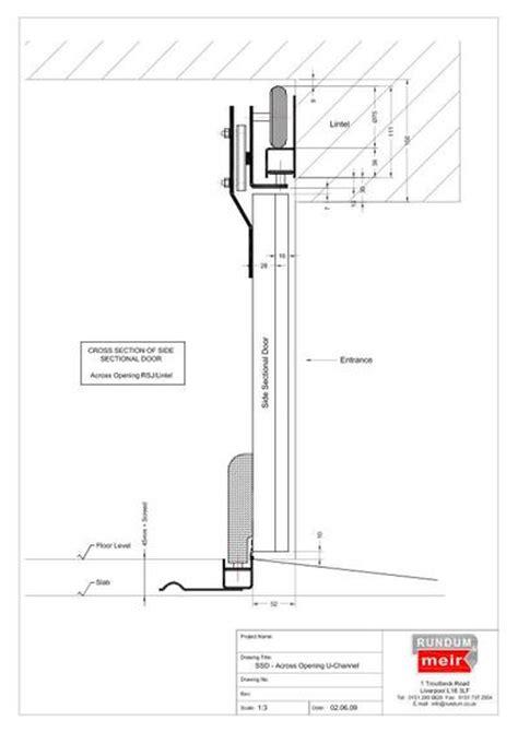 door section side sectional sliding garage doors rundum meir esi