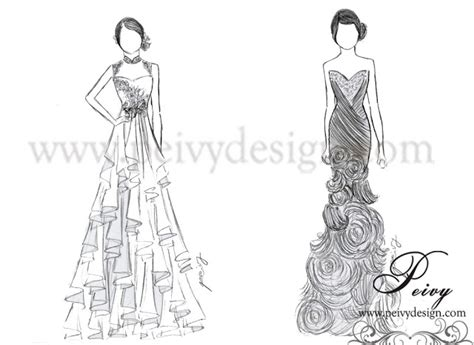 Ballgown Bridal Dress Pesta 4 peivy for your special moments sketch gown for
