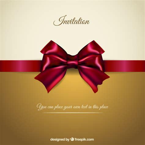 ribbon design for invitation card elegant invitation with a red ribbon vector premium download