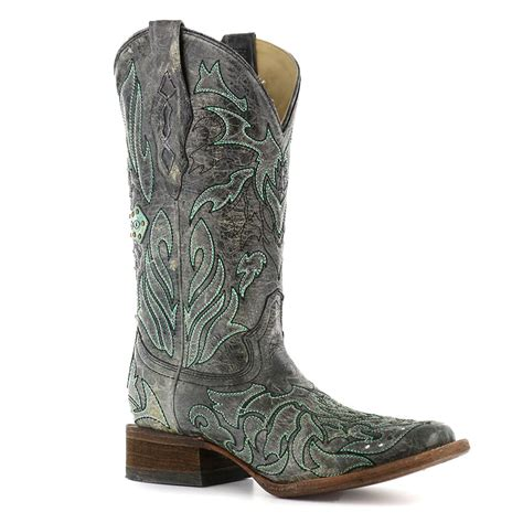 corral studded cowboy boot corral s studded cross overlay western boots boot barn