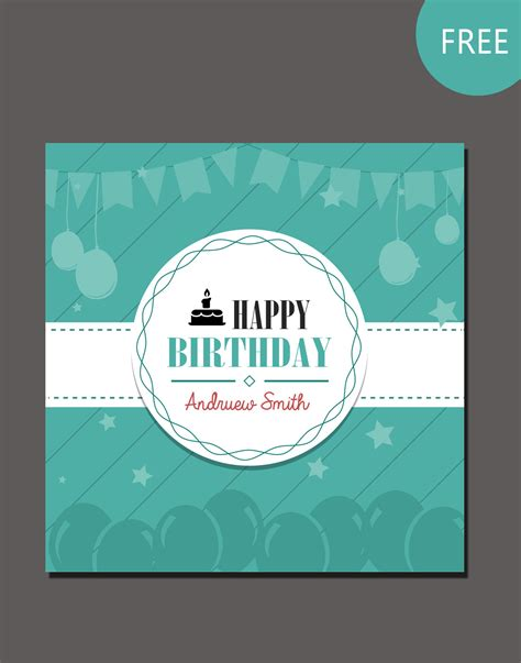 Birthday Card Layout Templates by Birthday Card Psd Template