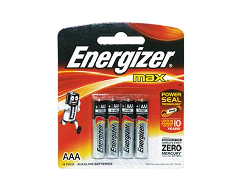 Energizer E92 Aaa energizer battery lr03 e92 bp4 aaa 4 pcs per pack office