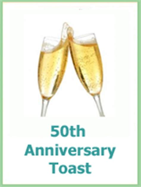 Wedding Anniversary Toast by Fabulous 50th Wedding Anniversary Gift And Ideas