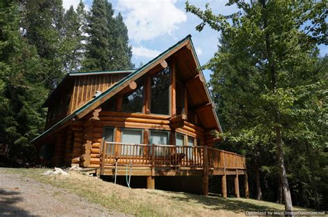 Dream Log Cabin On Creek Side Creek Front Home California Cottages For Sale