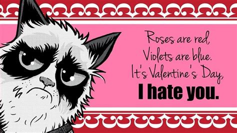 what to say on a valentines card say no to valentine s day with these grumpy cat e cards