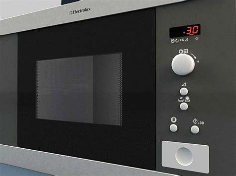 Microwave Electrolux Emms microwave electrolux ems17206x 3d model