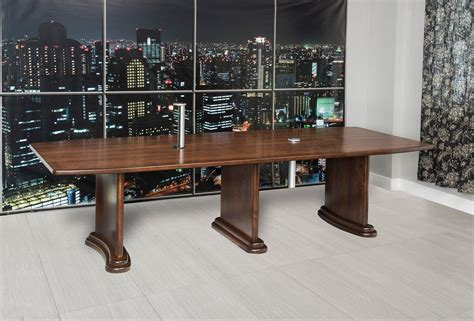 solid wood conference table excelsior conference table with data ports countryside