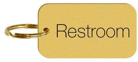 Bathroom Key Tag Brass Engraved Sided Restroom Key Tags Or Key Chains Sku Se 5374