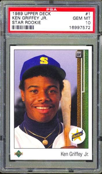 Deck Ken Griffey Jr by Lot Detail 1989 Deck 1 Ken Griffey Jr Psa 10 Gem