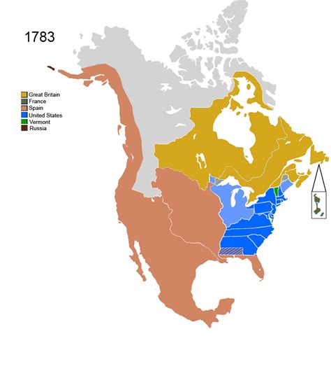 america map in 1783 america 1783 map