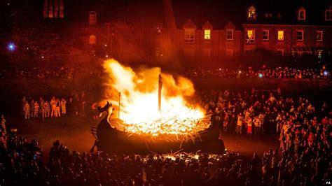 viking fire boat shetland celebrates up helly aa viking fire festival bbc