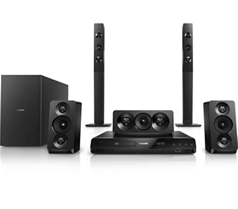 philips htd5550 dvd home theater system usb hdmi divx