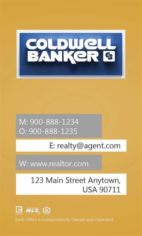 coldwell banker template for business cards coldwell banker business card with design 104444