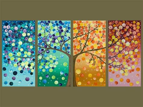 acrylic painting project ideas colorful abstract original artwork acrylic gift for