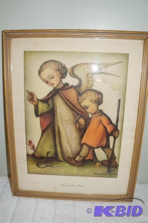 """Her Guardian Angel"" M.I. Hummel Framed Print   Estate"