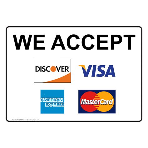 What To Put For Billing Address On Visa Gift Card - we accept discover visa american express mastercard sign nhe 17967