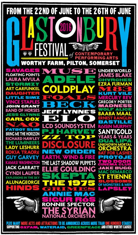 glastonbury festival line ups wikipedia the free glastonbury 2016 line up so far glastonbury festival