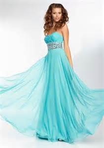 a line sweetheart flowing long turquoise blue chiffon