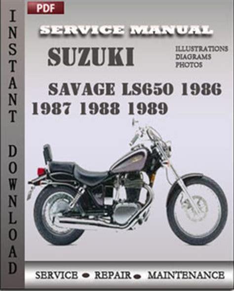 Suzuki Savage Manual Pdf Suzuki Savage Ls650 1987 1988 Free Pdf Repair