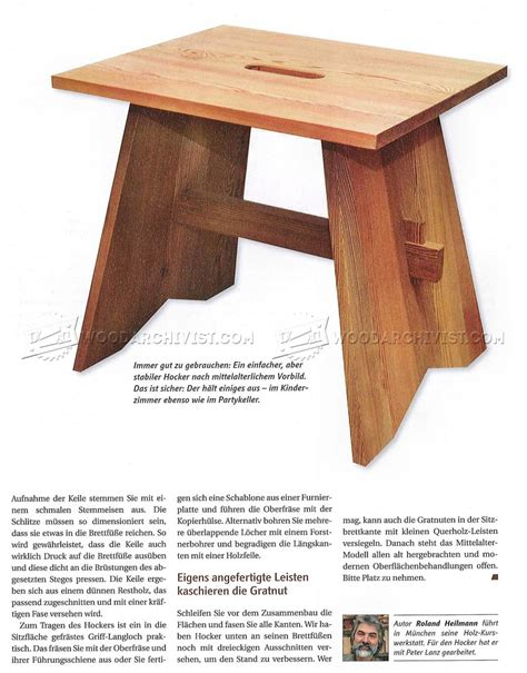 Small Wood Stool Plans by Stool Plans Woodarchivist