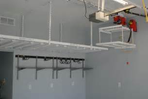 garage ceiling storage lift custom diy overhead garage storage shelves with lift for