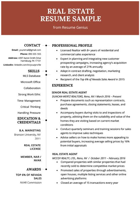 real estate agent resume sample fine photos studiootb
