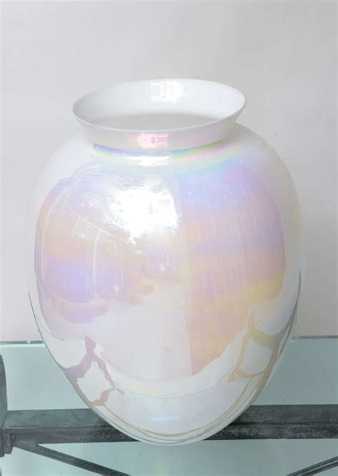 large iridescent pearl vase at 1stdibs
