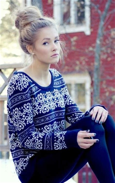 cute outfit with bun hair 27 latest pretty sweater styles for winter styles weekly